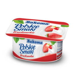 Jogurt Polskie Smaki truskawkowy 120 g Bakoma