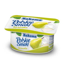Jogurt Polskie Smaki gruszka 120 g Bakoma