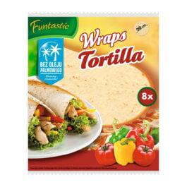 Tortilla Funtastic pszenna 296g 8szt Develey