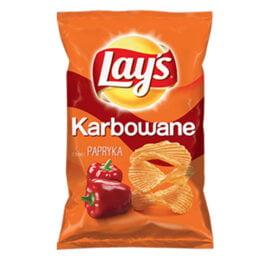 Chipsy Lay's karbowane o smaku papryki 130g Frito Lay