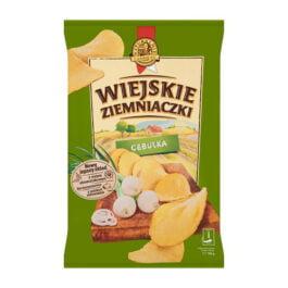 Chipsy Wiejskie Ziemniaczki o smaku cebulki 130g Bahlsen Poznań