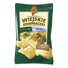 Chipsy Wiejskie Ziemniaczki o smaku koperku 130g Bahlsen Poznań