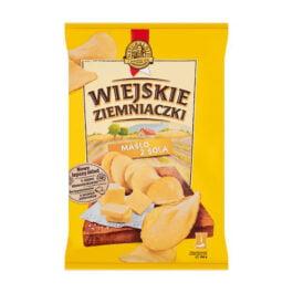 Chipsy Wiejskie Ziemniaczki o smaku masła z solą 130g Bahlsen Poznań