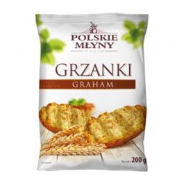 Grzanki graham typu skorpor 200g Polskie Młyny
