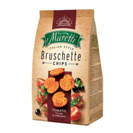 Pieczywo Bruschetta Maretti o smaku pomidorów, oliwek i oregano 70g Italmex
