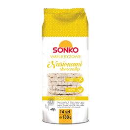 Wafle ryżowe z nasionami słonecznika 130g Sonko