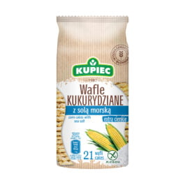 Wafle kukurydziane z solą morską 105g Kupiec