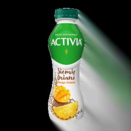 Jogurt activia drink siemię lniane, mango, ananas 280 g Danone