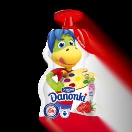 Jogurt truskawkowy Danonki saszetka 70g Danone