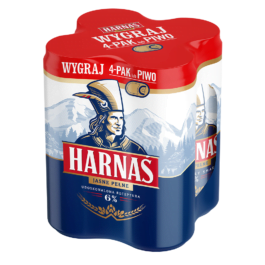 Piwo Harnaś 6% puszka 4x500ml Carlsberg