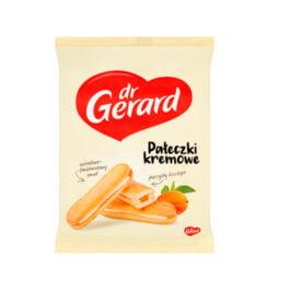 Ciastka pałeczki kremowe z nadzieniem o smaku morelowo-śmietankowym 200g Dr Gerard