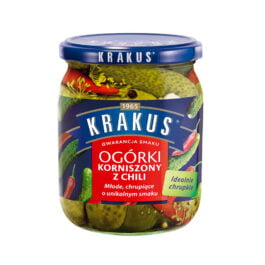 Ogórki korniszony z chili Krakus 500g Agros Nova