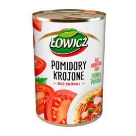 Pomidory krojone bez skóry Łowicz 400g Agros Nova