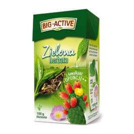 Herbata liściasta Big Active zielona opuncja 100g. Herbapol