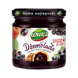 Dżemolada czarna-owocowy krem do smarowania czarna porzeczka-aronia 200g Łowicz