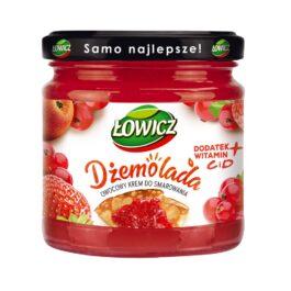 Dżemolada czerwona-owocowy krem do smarowania truskawka-czerw.porzeczka-jabłko 200g Łowicz
