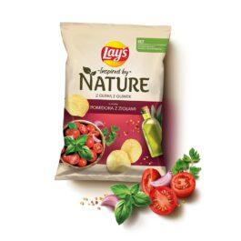 Chipsy Lay's nature o smaku pomidora z ziołami 120g Frito Lay