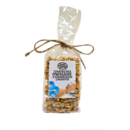 Ciasteczka owsiane z siemieniem lnianym 150g Ziarno natury