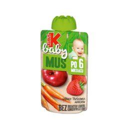 Mus Kubuś baby jabłko/truskawka/marchew 100g Maspex
