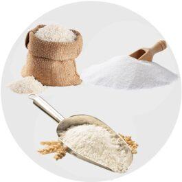 Cukier, mąka, kasza, ryż