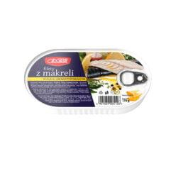 Filety z makreli w oleju aromatyzowanym 170g MW Społem