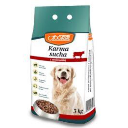 Karma dla psa sucha z wołowiną 3kg MW Społem
