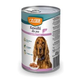 Karma dla psa z wątróbką w galarecie 410g MW Społem
