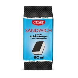Lody sandwich o smaku śmietankowym z mini czekoladkami180ml MW Społem