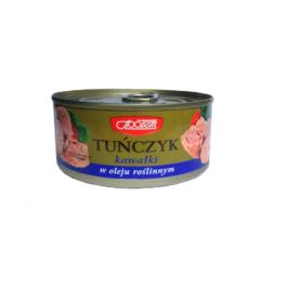 Tuńczyk kawałki w oleju roślinnym 170g MW Społem
