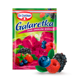 Galaretka o smaku owoców leśnych 77g Dr.Oetker